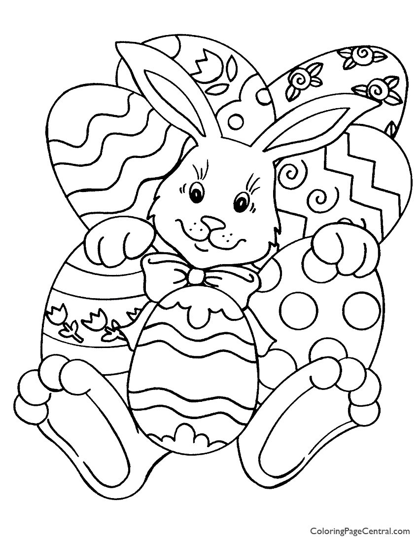 Easter 01 Coloring Page | Coloring Page Central