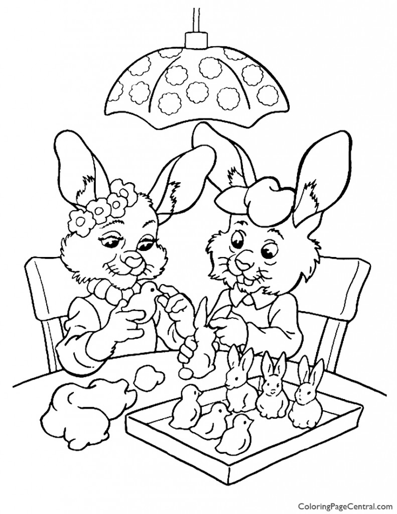 Easter 08 Coloring Page