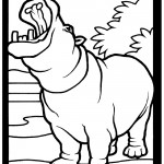 Hippo 01 Coloring Page