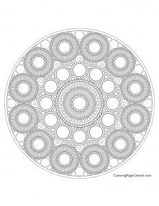 Mandala – Circle 01 Coloring Page