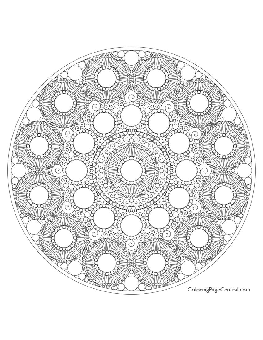 Mandala - Circle 01 Coloring Page