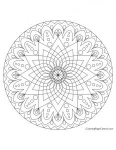 Mandala – Circle 02 Coloring Page