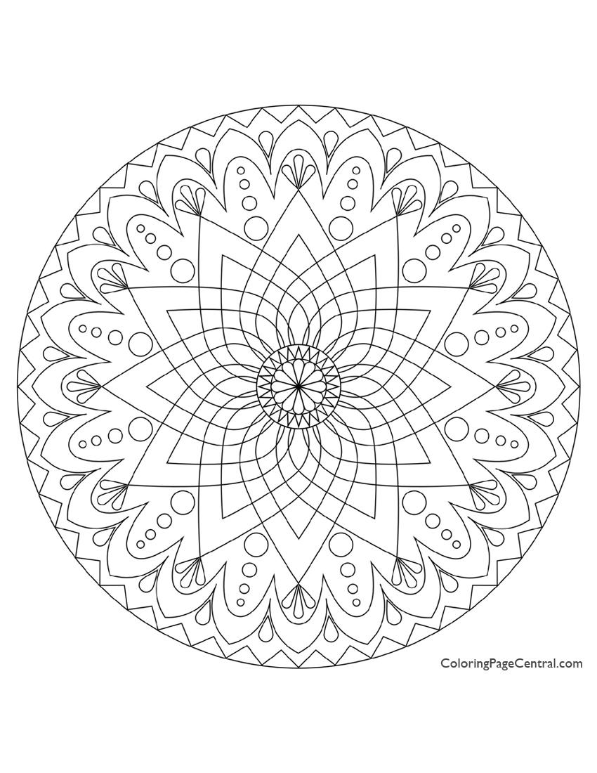 Circle mandala coloring pages