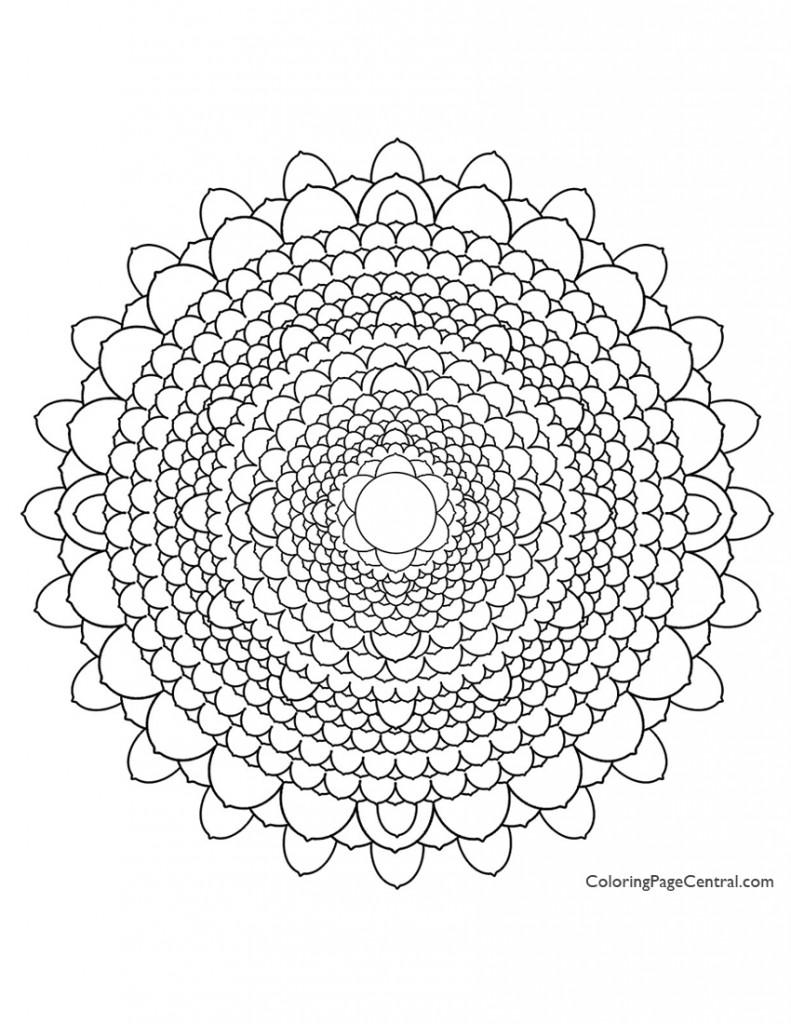Mandala - Circle 03 Coloring Page