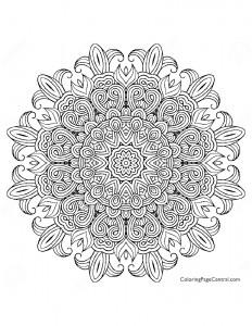 Mandala – Circle 04 Coloring Page
