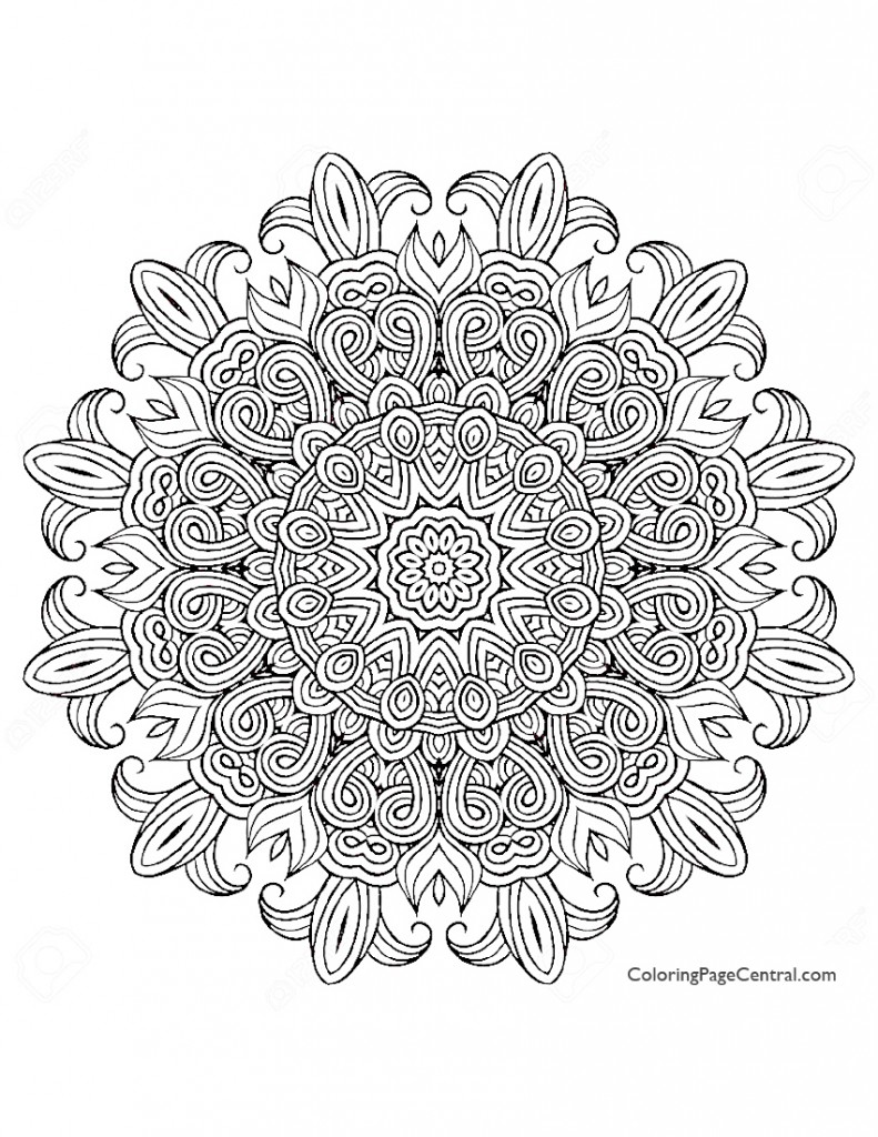 Mandala - Circle 04 Coloring Page