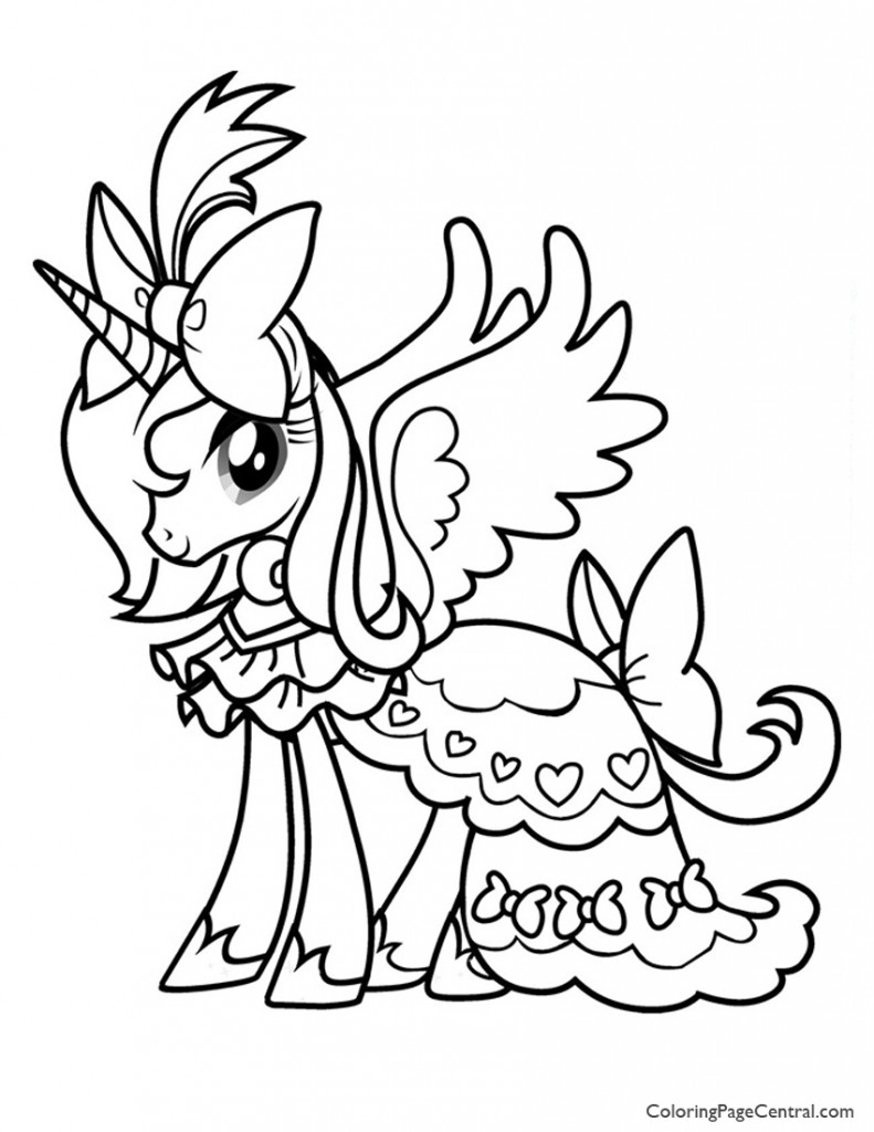 My Little Pony 01 Coloring Page