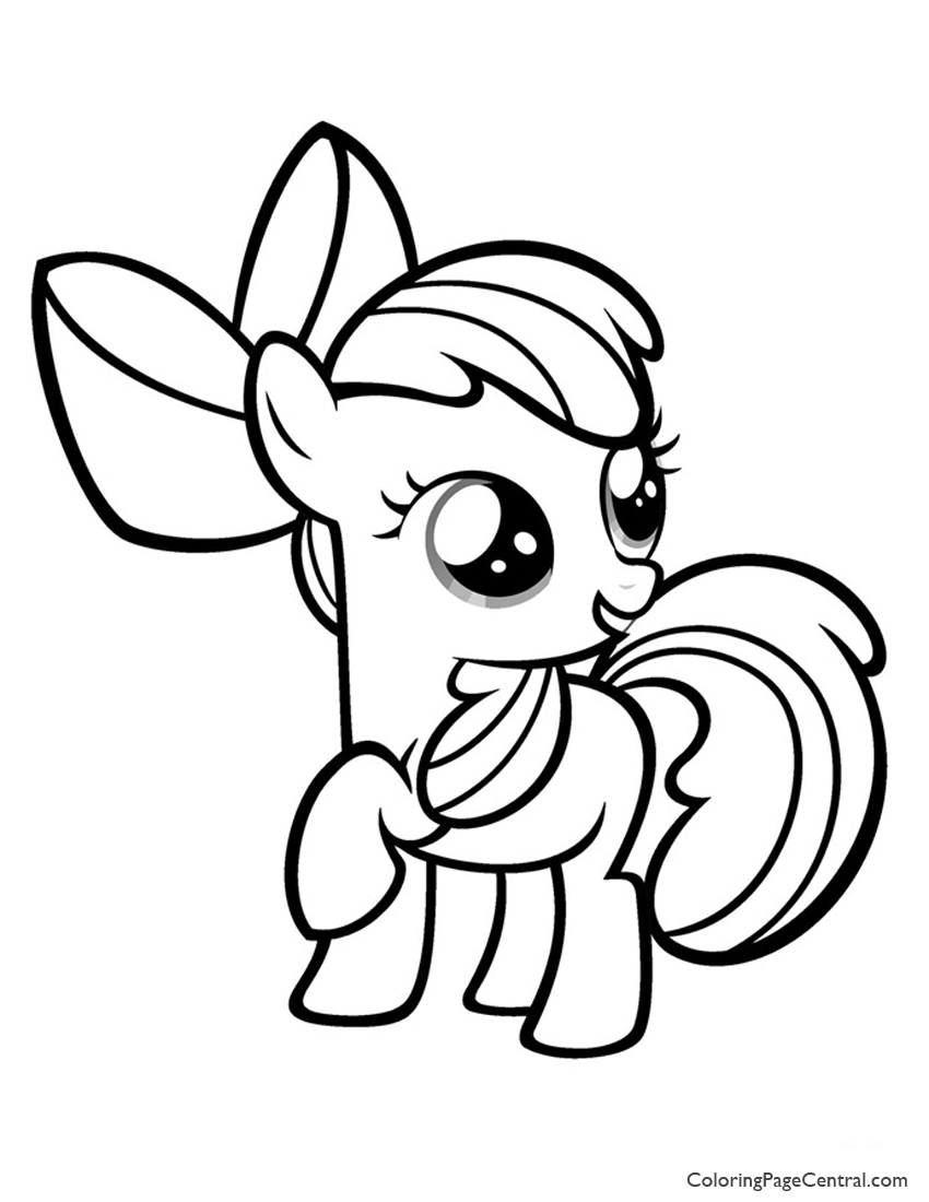 My Little Pony Apple Bloom 01 Coloring Page Coloring