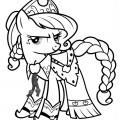 My Little Pony - Applejack 01 Coloring Page