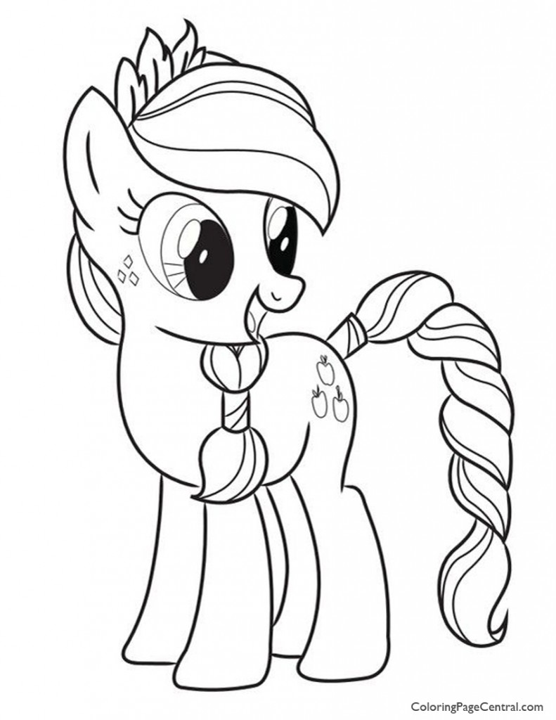 My Little Pony - Applejack 03 Coloring Page