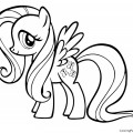 My Little Pony - Fluttershy 01 Coloring Page