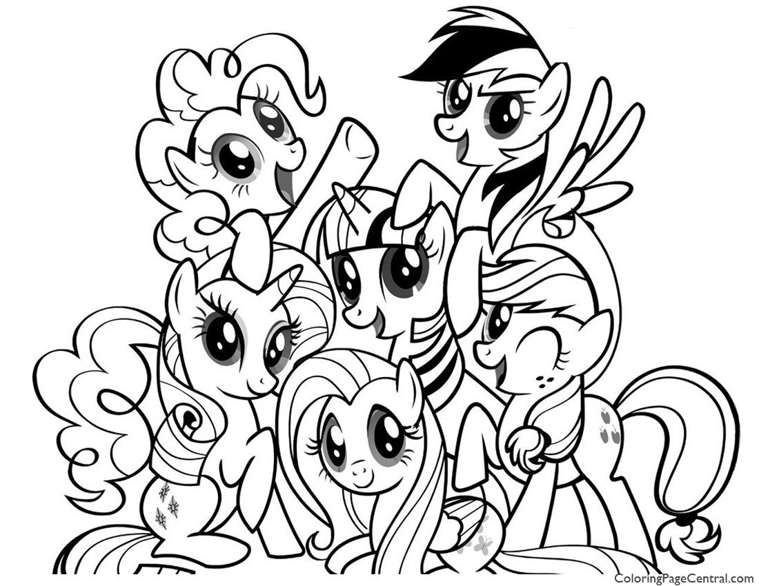 My Little Pony Friendship Is Magic 01 Coloring Page Coloring