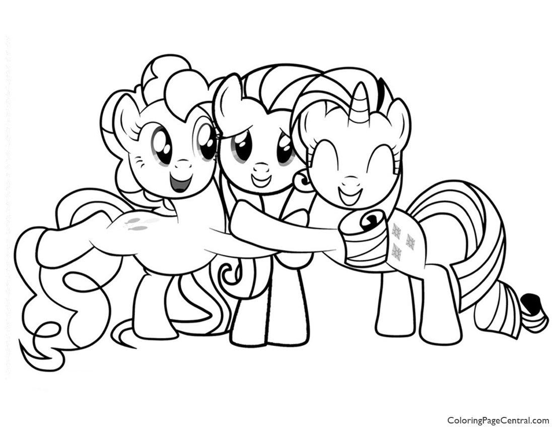 My Little Pony Coloring Pages Friendship Is Magic Fluttershy