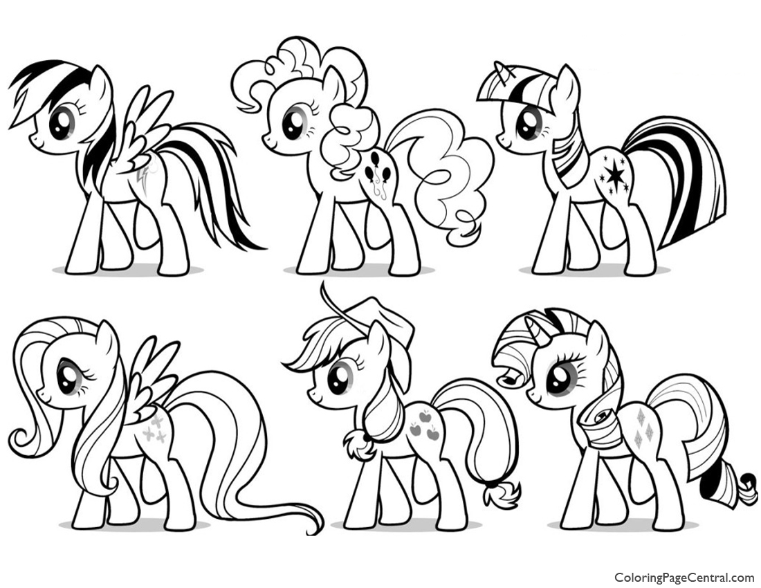 My Little Pony – Friendship is Magic 03 Coloring Page | Coloring ...