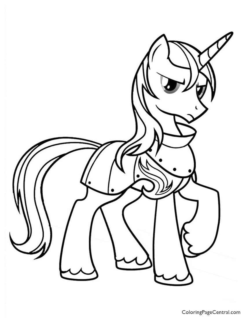 my little pony prince shining armor 01 coloring page