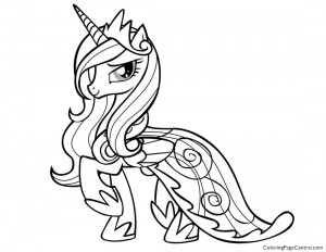 My Little Pony – Princess Cadence 01 Coloring Page