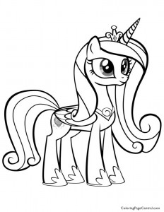 My Little Pony - Princess Cadence 02 Coloring Page