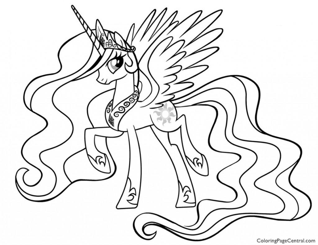My Little Pony - Princess Celestia 01 Coloring Page ...
