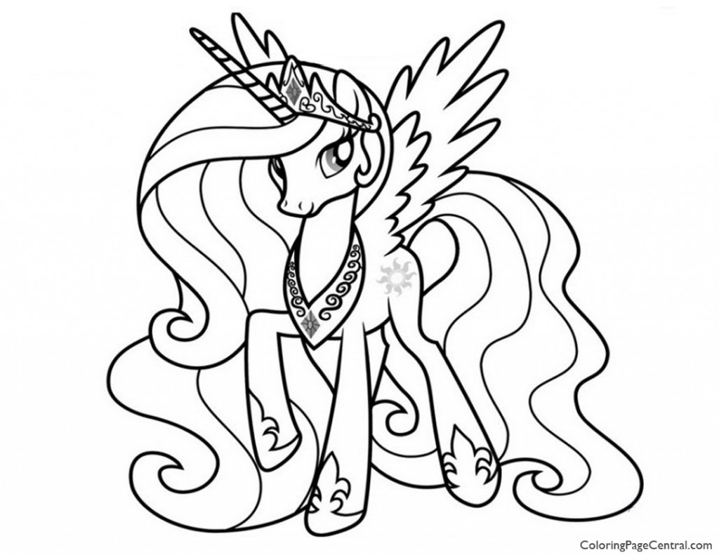 My Little Pony Princess Celestia 02 Coloring Page Coloring Page