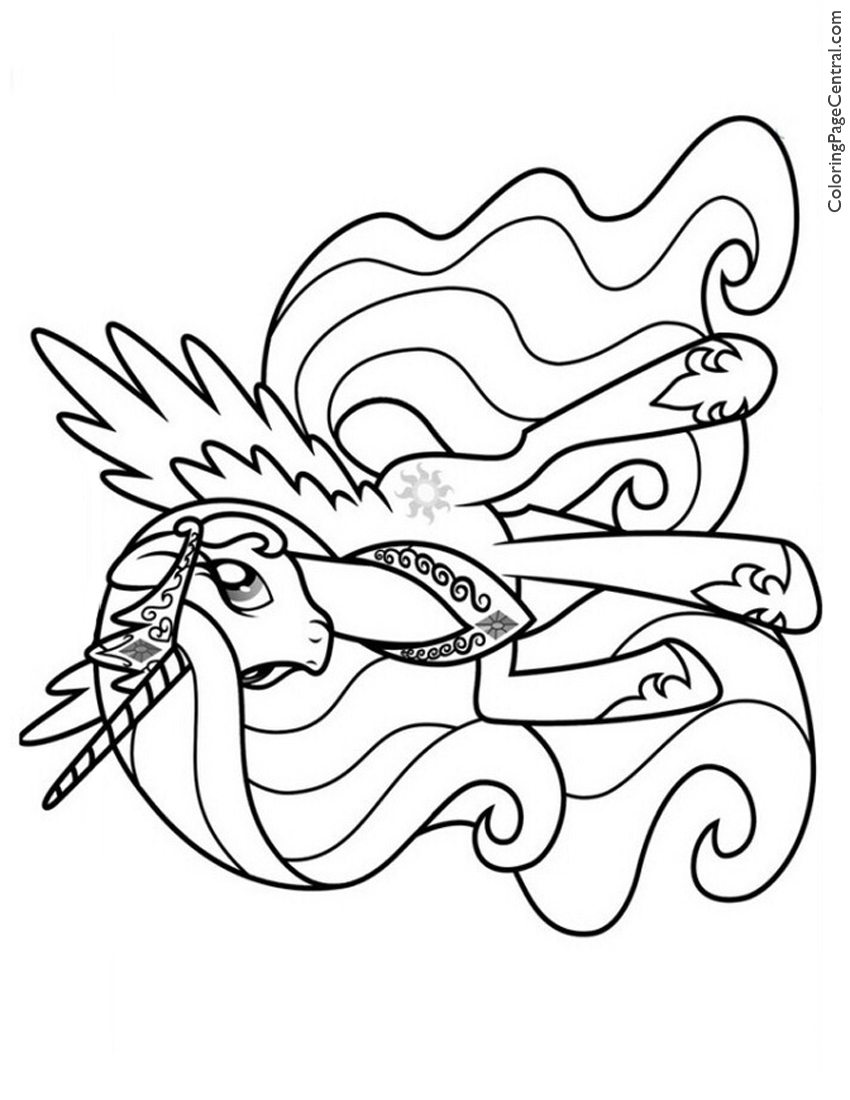 My Little Pony Princess Celestia 02 Coloring Page Coloring