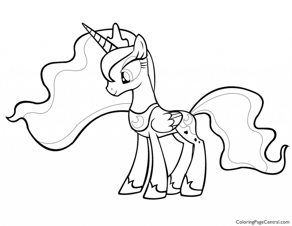 - My Little Pony - Princess Luna 01 Coloring Page Coloring Page