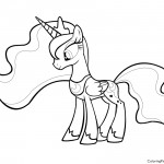 My Little Pony - Princess Luna 01 Coloring Page