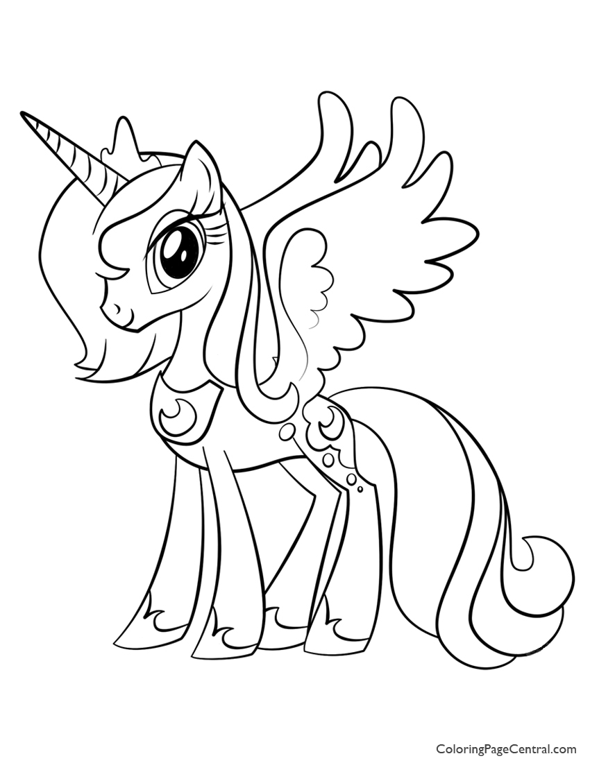 My Little Pony – Princess Luna 02 Coloring Page | Coloring Page Central