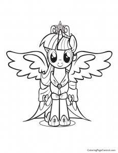 My Little Pony – Princess Twilight Sparkle 01 Coloring Page