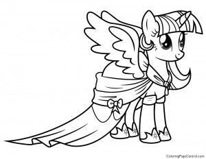My Little Pony – Princess Twilight Sparkle 02 Coloring Page