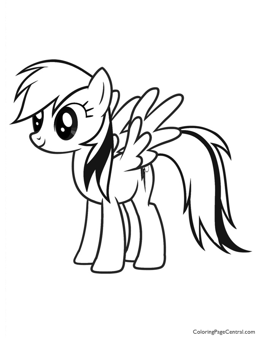 My Little Pony - Rainbow Dash 01 Coloring Page