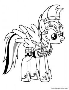 My Little Pony – Rainbow Dash 02 Coloring Page