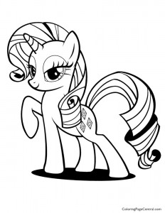 My Little Pony – Rarity 01 Coloring Page