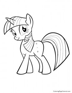 My Little Pony – Twilight Sparkle 01 Coloring Page