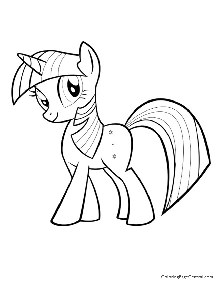 My Little Pony – Twilight Sparkle 01 Coloring Page | Coloring Page ...