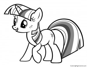 My Little Pony – Twilight Sparkle 02 Coloring Page