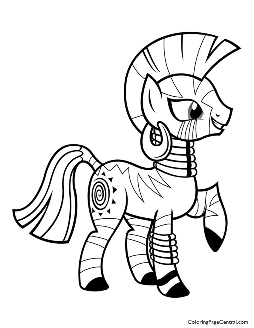 My Little Pony – Zecora 01 Coloring Page | Coloring Page Central