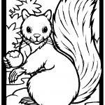 Squirrel 01 Coloring Page