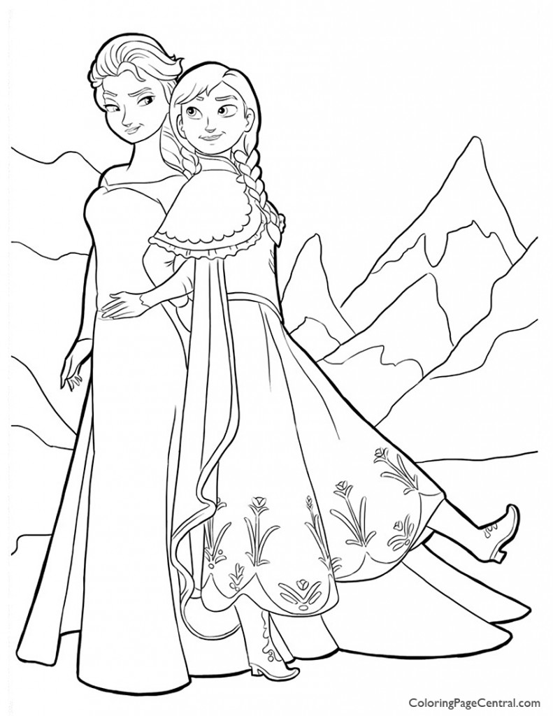 Frozen 02 Coloring Page