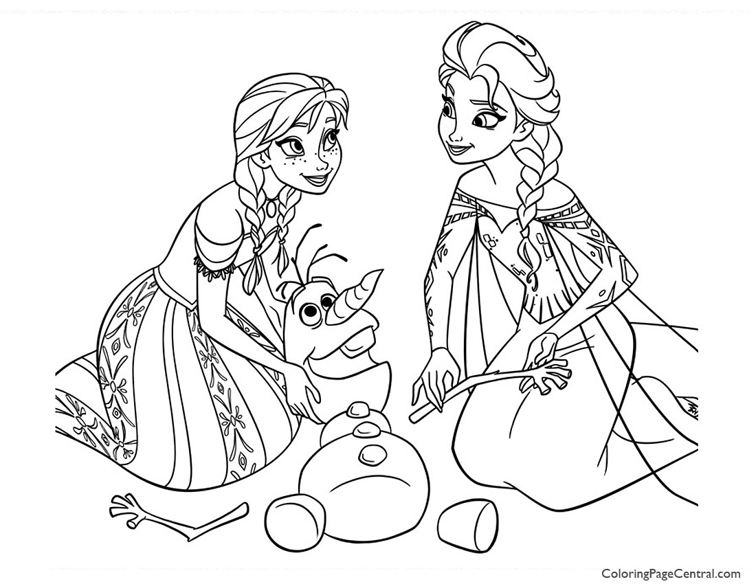 Frozen 05 Coloring Page