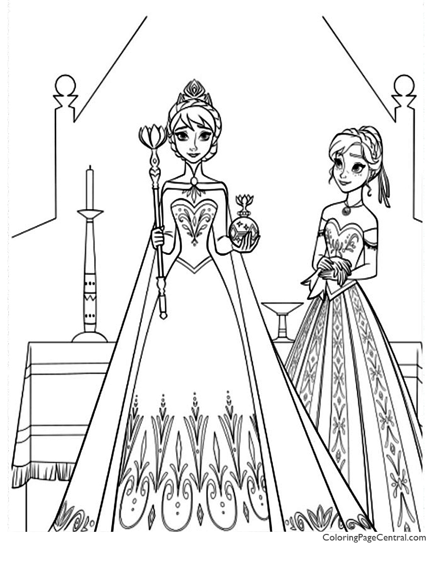 Frozen 10 Coloring Page Coloring