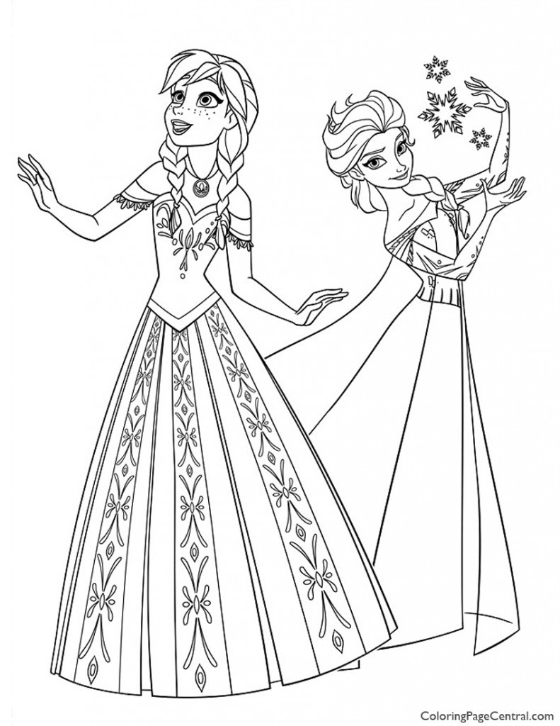 Frozen 11 Coloring Page