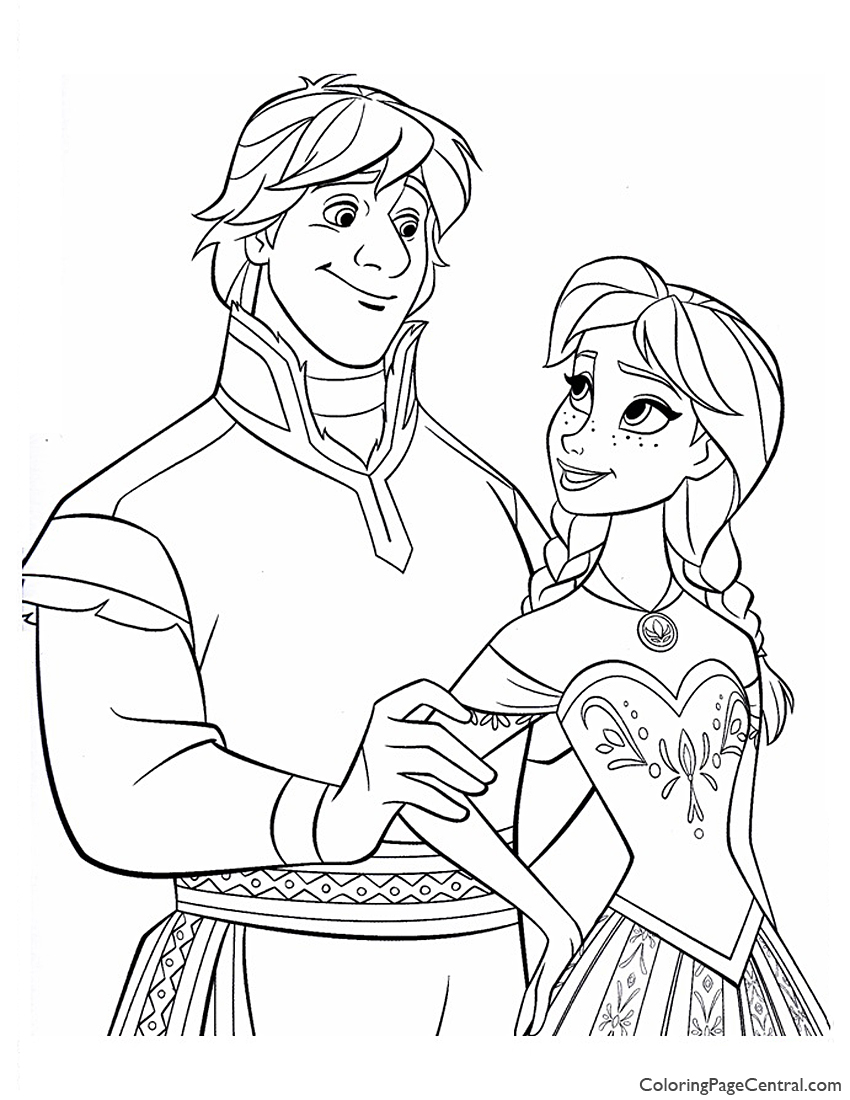 Frozen 12 Coloring Page