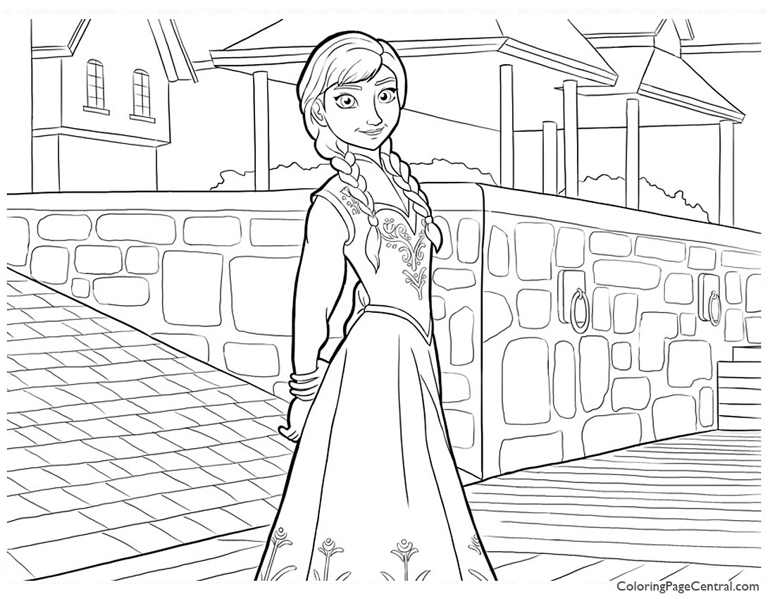 Frozen - Anna 01 Coloring Page