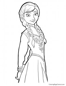 Frozen – Anna 02 Coloring Page