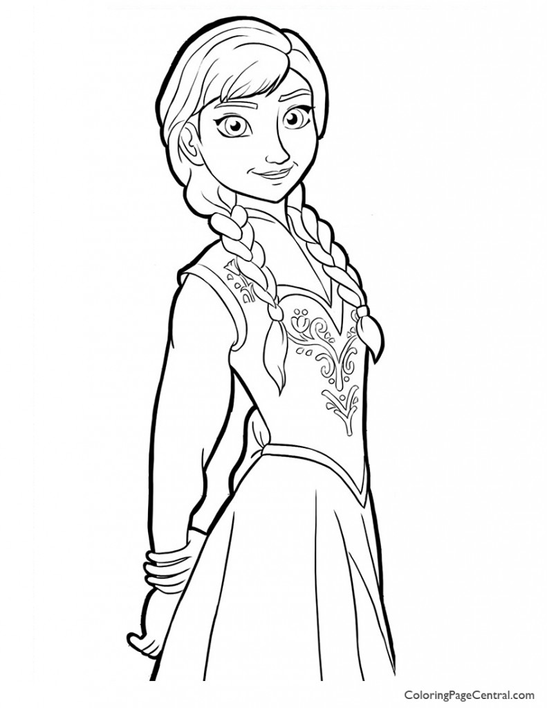 Frozen - Anna 02 Coloring Page