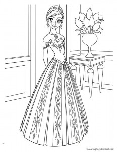 Frozen – Anna 03 Coloring Page