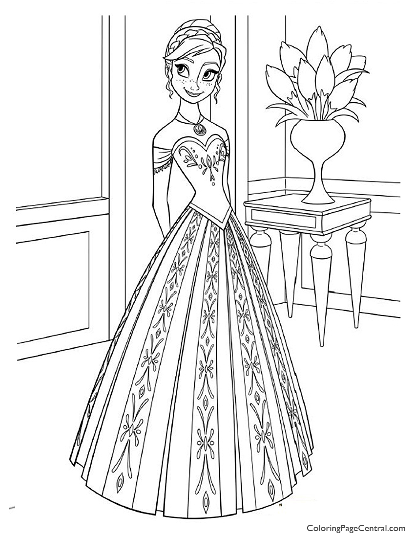 Frozen - Anna 03 Coloring Page