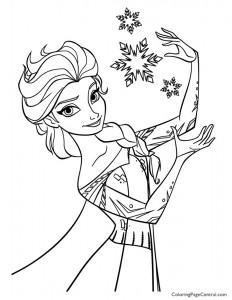 Frozen – Elsa 01 Coloring Page