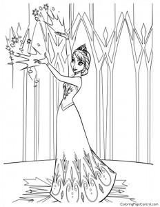 Frozen – Elsa 02 Coloring Page