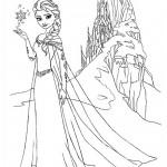 Frozen - Elsa 03 Coloring Page